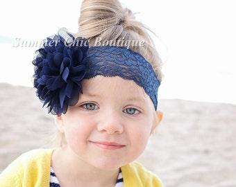 Navy Headband, Baby Headband, Navy Baby Headband,  Infant Headband, Newborn Headband, Navy Headband, Navy Baby Headband, Navy Girls Headband