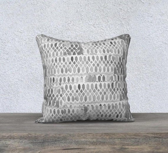 Gray Decorative Throw Pillow Cover