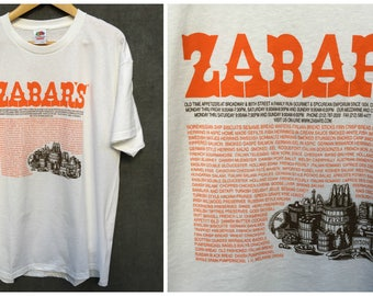 Vintage Zabar's New York Deli Fruit of the LoomT-Shirt - Size XL NOS Brand New Condition