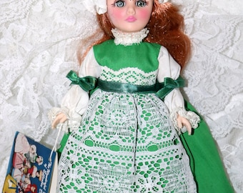 "1980s Effanbee ""International"" Doll - Ireland - Plastic - Vinyl - Complete Outfit - Original Hang Tag - 11 Inch"