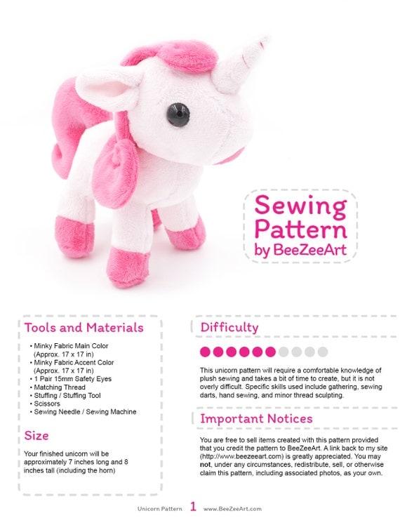 how to make a unicorn stuffed animal