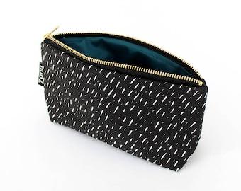 Specks Makeup Bag - Brush Bag - Travel Cosmetics Case - Yellow Pink or Black