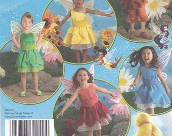 Simplicity Child Tinkerbell Pattern #2872 Size 3 4 5 6 7 8