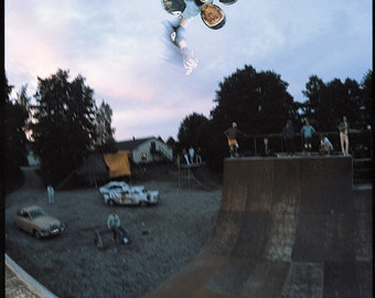 Tony Hawk Skateboard Photo - 18X24 Archival Photograph - J Grant Brittain Sweden 1985 Skateboarding