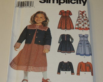 Uncut 3-8 Simplicity 9846 Girls Wardrobe Pattern
