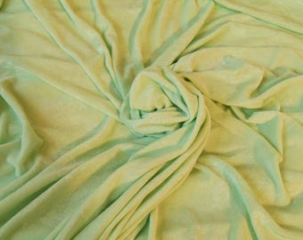 """3 yds x 52"""" wide Embossed Tone-on-Tone Seafoam Green Stretch Knit Jersey Fabric - Clingy Polyester Stretchy Knit Sewing Fabrics Supplies"""