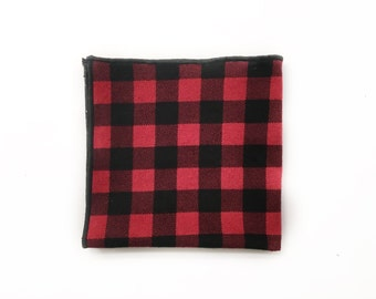 Red Buffalo Plaid Pocket Square