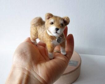 Mini Cute Felted Baby Shiba Inu