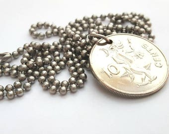 2010 Solomon Islands Coin Necklace  - Stainless Steel Ball Chain or Key-chain