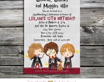 Gryffindor invite Etsy