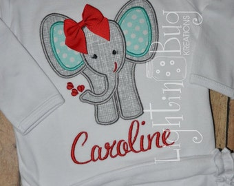 Personalized Valentine's Day shirt / Love Elephant Shirt