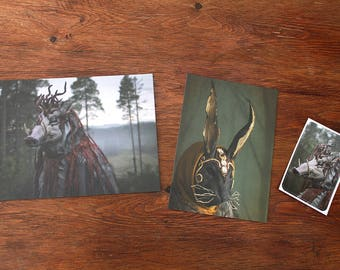 Postcard/Print & Sticker Set #3