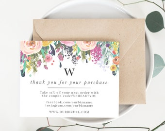 INSTANT Business Thank You Cards Editable PDF Printable