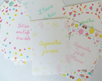 The first few times of - 15 cards pictures - baby birth gift gift baby shower