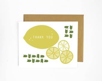 Lemon Thank You - Greeting Card