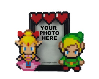 legend of zelda picture frame couples picture frame nerdy wedding gift nerdy gift video game wedding pixel wedding