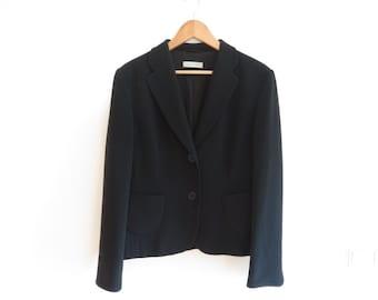 Rene Lezard Black Two Button Blazer Jacket, sz. 40