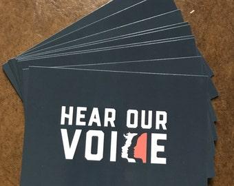 SALE - 10 Women's March Postcards / 10 Actions / 100 Days / Hear Our Voice