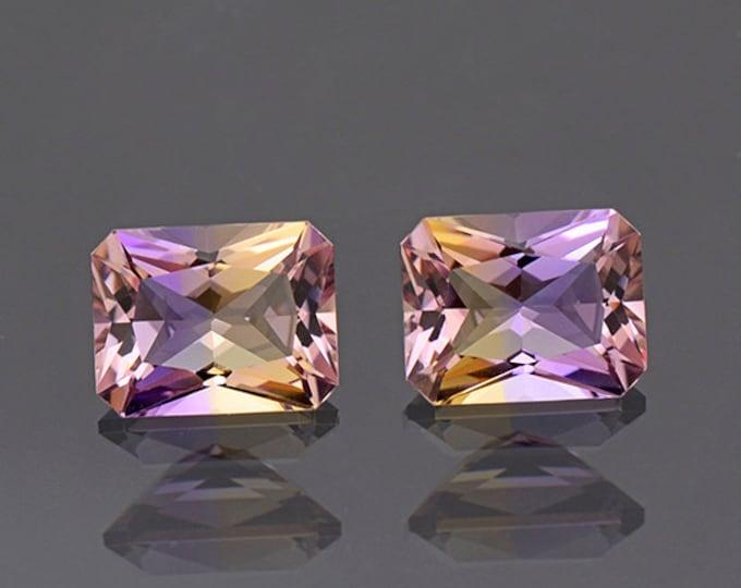 Fine Bi Color Ametrine Quartz Gemstone Match Pair 4.22 tcw.