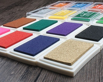 Craft ink pad oil based stamp pad used with rubber stamp - 15 colors