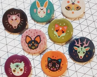 Creatures of the Night Button Set
