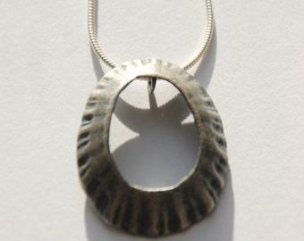 Large Marazion Oxidised Limpet Pendant