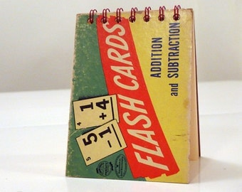 Vintage Flashcards Flip Notepad/Purse Notepad/Mini Notebook