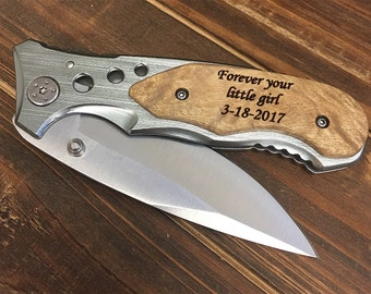 Father of the Bride Gift, Father Daughter Gift, Father in Law Gift, Father of the Groom, Personalized Engraved Knife, Father's Day Gift