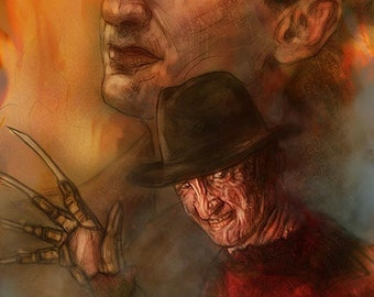 Freddy Krueger Nightmare On Elm Street Robert Englund Horro Movie Style Poster (Signed by Barry Sachs)