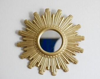 Ancien miroir hibou chouette oeil de sorciere par for Ancien miroir soleil