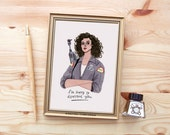 Ellen Ripley (Alien Movie) Print by Rachel Corcoran - Illustration - Females Are Strong As Hell - Gift For Her - Strong Women