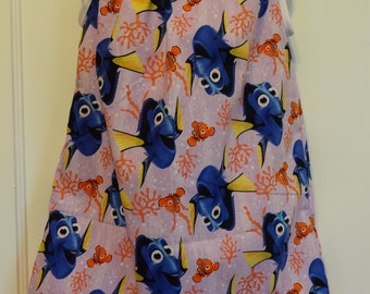 Disney Finding Dory and Seaweed Girl, Pillowcase Dress, Size 6m, 9m, 12-18m, 18-24m, and Size 2 to 8, Seaweed Girl, Finding Dory Dress