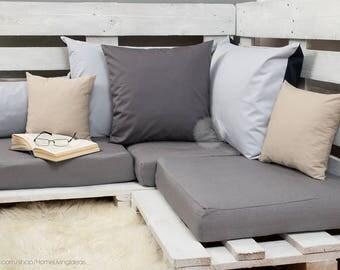 gray throw pillow cover dark grey pillow cover dark gray decorative pillow case cotton cushion cover decorative cushion gray accent pillow