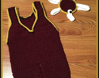 CROCHET PATTERN - Baby Wrestling Singlet ONLY