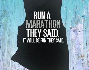 Marathon Run Muscle Tank. RunnMarathon Group Running Tank Top. Marathon Training Shirt. Marathon Shirt. Marathon Tank. Marathon Tee