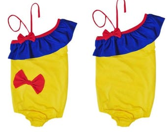 Snow White Inspired Swim Suit