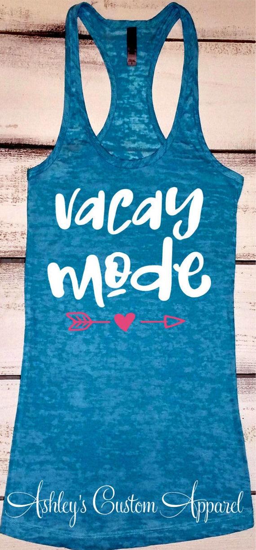 Cruise shirts vacay mode shirt beach vacation shirt for Travel t shirt design ideas