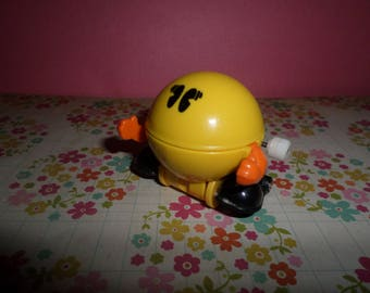 Vintage Tomy PAC Man Wind up Figure 80's Rolling FUN Video Game