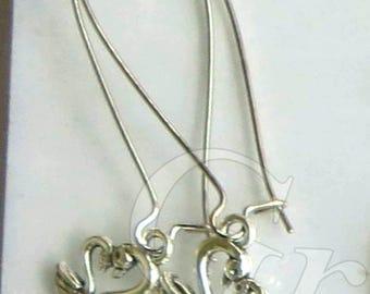 Dangle & Drop Earrings. Approx. 1in. length-Heart Shape-Swan-Mothers Love