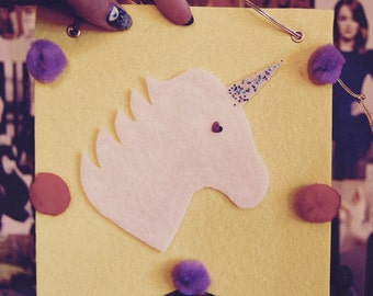 Unicorn Pennant with SPARKLE Horn