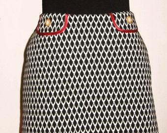Black and White Skirt Diamond pattern