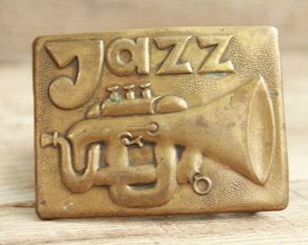 Vintage belt buckle / music Jazz belt buckle / accessories