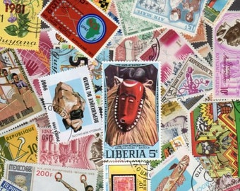 50 Diff AFRICA Stamps, Africa, African Stamps, Stamp Collection,African Postage Stamps,Stamps, Postage Stamps,Liberia,Burundi,