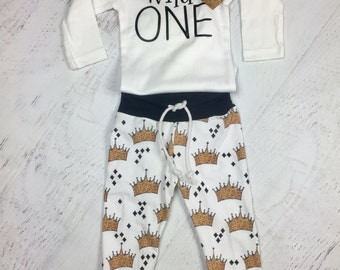 Wild One Birthday leggings and shirt-Where the wild things are Birthday outfit