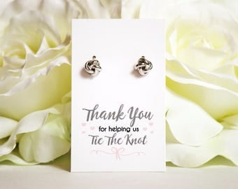 Love Knot earrings | Knot Earrings | Bridesmaid Gifts | Bridesmaid Jewelry | Love Knot Studs | Thank you for helping us tie the knot