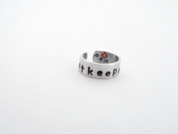 Just Keep Swimming Ring with little Fish and Bubbles Adjustable Customizable