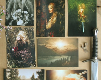 "Lot of 7 postcards art photography ""Rebel by fidelity"""
