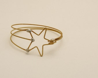 Shooting Star Bracelet (Guitar String Jewelry - Recycled) (Guitar Bracelet) (Acoustic Guitar) (Guitar String Bracelet)