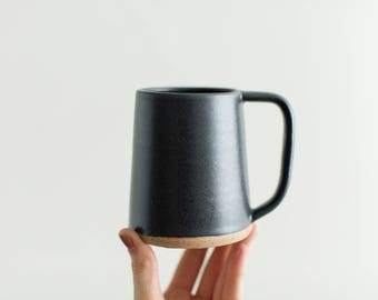 Slade Modern Mug - Handmade pottery mug, 12 oz mug for coffee or tea