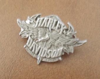 Vintage~Large~Harley Davidson Pin~Harley Jewelry~Biker accessorie~Motorcycle Pin~Genuine Harley~Jacket Vest Pin~Biker Gift~USA